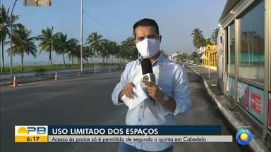 Acesso às praias só é permitido de segunda a quinta-feira, em Cabedelo - Confira os detalhes com o repórter Ítalo Di Lucena.