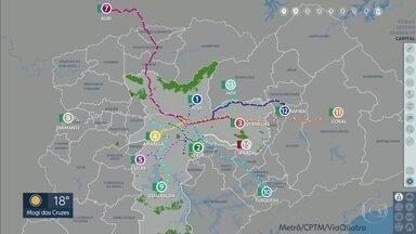 Governo de SP diz que Linha 15-Prata volta a funcionar no próximo domingo - Monotrilho da zona leste está parado desde o fim de fevereiro, e passageiros estão usando o sistema Paese.