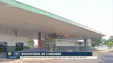 Comitê apresenta plano de biossegurança para reabertura da rodoviária de Corumbá - Terminal de passageiros está fechado para evitar o contágio da COVID-19