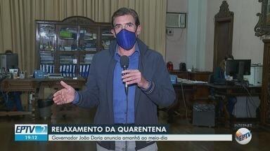 Governador João Doria anuncia na quarta-feira (27) novas medidas contra a Covid-19 - Representantes do comércio e dos bares de Ribeirão Preto querem flexibilização de regras.