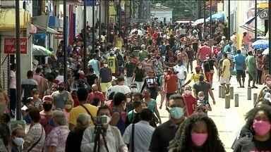 São Luís volta a registrar aglomerações após reabertura de parte do comércio - O Maranhão é o segundo pior estado do país no cumprimento das medidas de distanciamento social, com taxa de adesão de 47,2%.