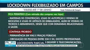Campos, RJ, prorroga decreto de lockdown, mas flexibiliza algumas medidas - Retirada da compra na porta da loja volta a ser autorizada.