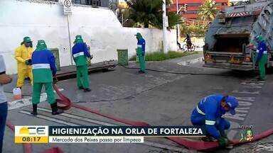 Mercado dos Peixes passa por limpeza - Confira mais notícias em g1.globo.com/ce