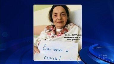 Mãe do ex-prefeito Vitor Lippi recebe alta após ser internada com Covid-19 - Volda Lippi, mãe do deputado federal e ex-prefeito Vitor Lippi, de Sorocaba (SP), recebeu alta do hospital. Ela ficou um mês na UTI e mais duas semanas no quarto por conta da Covid-19.
