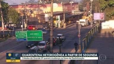 Quarentena heterogênea a partir de segunda (01) - Cidades da Grande SP querem mudança na faixa de flexibilização.