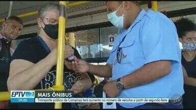 Transporte público de Campinas terá reforço de até 30% em linhas com maior demanda - Aumento vai ocorrer 1h30 antes do horário previsto para abertura e 1h30 depois do fechamento dos estabelecimentos.