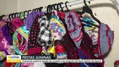 Comércio de Montes Claros registra queda nas vendas de itens para festa junina - Por causa do coronavírus, as comemorações devem ficar bem restritas.