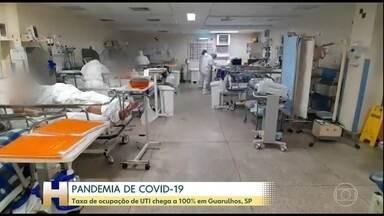 Unidades de Terapia Intensiva estão no limite em Guarulhos - Região metropolitana de São Paulo tem taxa de ocupação de UTI de 85%