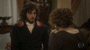 Joaquim vai à Quinta procurar por Bonifácio - Ela pede que Joaquim lhe conte o que está acontecendo com Dom Pedro