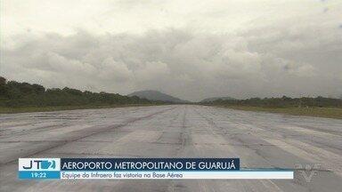 Equipe da Infraero faz vistoria no Aeroporto de Guarujá - Segundo a prefeitura, a superintendente afirmou que a vistoria permitirá um levantamento das necessidades da pista.