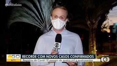 Goiás atinge recorde com 419 novos casos e 24 mortes por coronavírus registrados em um dia - Já são quase 4,3 mil casos.