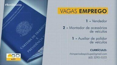 Confira vagas de emprego abertas em Goiás - Veja como se candidatar.