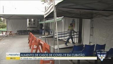 Cubatão cidade tem 726 casos confirmados de Covid-19 - Prefeitura está tomando medidas para conter o aumento do número de casos.