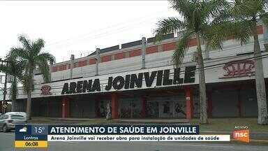 Arena Joinville vai abrigar Central de Abastecimento Farmacêutico e Vigilância Ambiental - Arena Joinville vai abrigar Central de Abastecimento Farmacêutico e Vigilância Ambiental