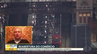 Reabertura do comércio no Capital - Setores estão entregando propostas de protocolos sanitários.
