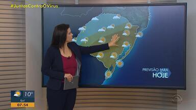 Chuva inicia no Norte e Noroeste do RS e deve avançar para outras regiões nesta quinta - Temperaturas ficam amenas ao longo do dia.