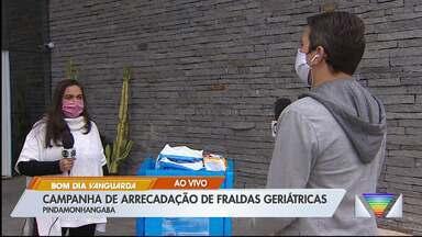 Campanha arrecada fraldas geriátricas em Pinda - Material será doado para lares que cuidam de idosos em oito cidades da região.