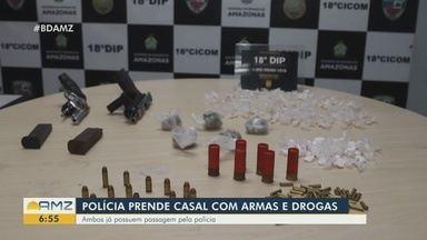 Polícia prende casal com armas e drogas - Em outra ocorrência, homem foi preso por estelionato.