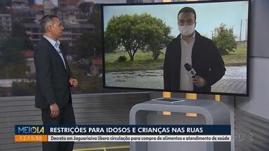 Idosos e crianças vão ter que justificar porque estão nas ruas de Jaguaríaiva - Decreto em Jaguariaíva libera circulação para compra de alimentos e atendimento de saúde