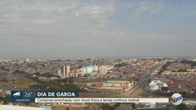Previsão do tempo mostra instabilidade na região de Campinas - A temperatura mínima é de 15°C e a máxima de 25°C em Campinas.