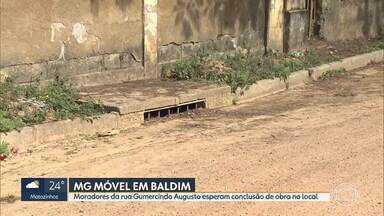 MG Móvel está, pela 6ª vez, em Baldim - Moradores da rua Gumercindo Augusto esperam conclusão de obras de pavimentação.