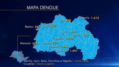 Ourinhos aumenta ações de combate aos focos do mosquito da dengue - Mesmo nessa época do ano, com temperaturas mais baixas e pouca chuva, os cuidados de prevenção contra a dengue devem ser mantidos. Ourinhos registra um número alto de casos de dengue e a prefeitura está investindo em ações de combate aos focos do mosquito.