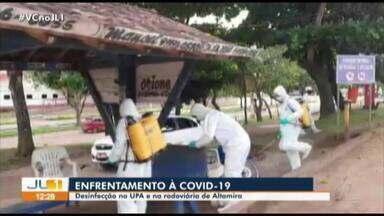 Prefeitura realiza desinfecção na UPA e na rodoviária de Altamira - Prefeitura realiza desinfecção na UPA e na rodoviária de Altamira