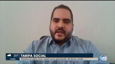 Equatorial abre novo canal para cadastros da tarifa social - Equatorial abre novo canal para cadastros da tarifa social