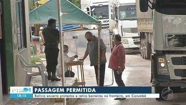 Bolívia encerra protestos e retira barreiras na fronteira, em Corumbá - Bolívia encerra protestos e retira barreiras na fronteira, em Corumbá