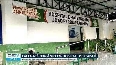 Falta de oxigênio e outros insumos para combate a covid-19 em Hospital de Itapajé - Saiba mais em: g1.com.br/ce