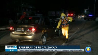 Barreiras de fiscalização exigem comprovação de motivo para sair de casa - Decreto mais rígido impõe medidas para municípios da Grande João Pessoa.