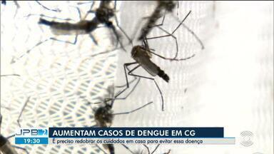 Aumentam casos de dengue em Campina Grande - É preciso redobrar os cuidados em casa para evitar essa doença.