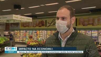 Setores de alimentação e farmácia aumentaram vendas durante pandemia em Cachoeiro, ES - Confira na reportagem.