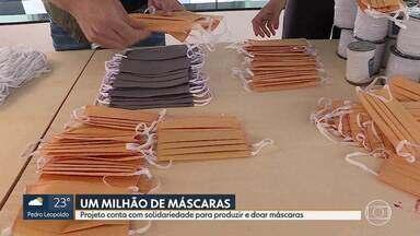 Projeto de Belo Horizonte pretende doar um milhão de máscaras - Movimento iniciado por profissionais da moda ajuda quem precisa da máscara e costureiras que tiveram a renda reduzida na pandemia.