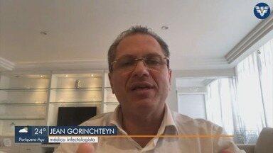 Infectologista Jean Gorinchteyn analisa situação da Covid-19 na região - Ele analisa cenário de contaminação na Baixada Santista.