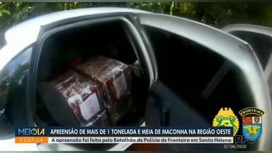 Polícia apreende mais de uma tonelada de maconha na Região Oeste - Droga estava em dois carros e os motoristas fugiram.