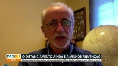 Especialistas recomendam o distanciamento social para evitar a Covid-19 - Segundo a SES, já são mais de 100 dias desde o primeiro caso de Covid-19 no Brasil.