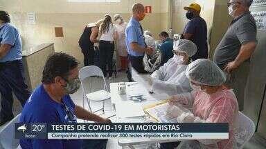 Campanha quer realizar 300 testes rápidos em motoristas profissionais em Rio Claro - Iniciativa do Sest Senat tem o apoio da prefeitura e vai ocorrer em todo país.