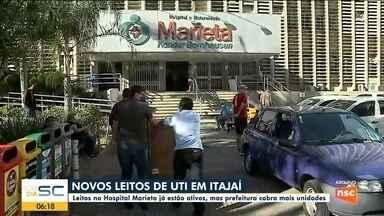 Hospital de Itajaí tem novos leitos ativados e prefeitura pede mais unidades - Hospital de Itajaí tem novos leitos ativados e prefeitura pede mais unidades