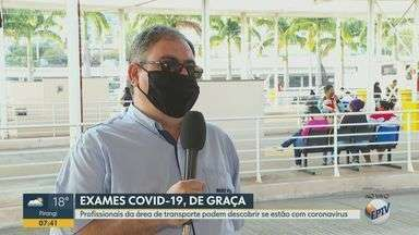 Caminhoneiros com sintomas da Covid-19 recebem testes gratuitos em Ribeirão Preto, SP - Ao todo serão disponibilizados 200 testes.