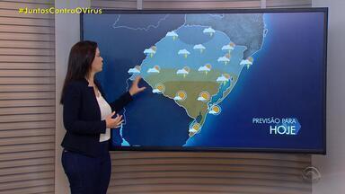 Quarta-feira (10) é de chuva no RS; risco de temporais segue no Estado - Temperaturas seguem baixas.