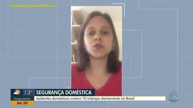 ONG Criança Segura e pediatra alertam para riscos de acidentes domésticos com crianças - No Brasil, 10 pequenos morrem diariamente em ocorrências dentro de casa.