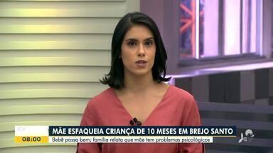 Mãe esfaqueia bebê de 10 meses em Brejo Santo - Saiba mais em g1.com.br/ce