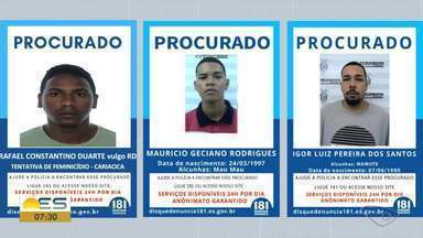 Quatro homens procurados pela polícia do ES receberam o auxílio emergencial - Levantamento foi feito pelo site A Gazeta.