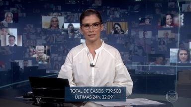 Brasil tem 38.406 mortes por Covid- 19, diz Ministério da Saúde - Em 24 horas, o ministério registrou 1.272 novas mortes pelo novo coronavírus e 32.901 novos casos.