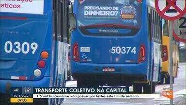 Florianópolis aplica teste para Covid-19 em 1,5 mil funcionários do transporte coletivo - Florianópolis aplica teste para Covid-19 em 1,5 mil funcionários do transporte coletivo