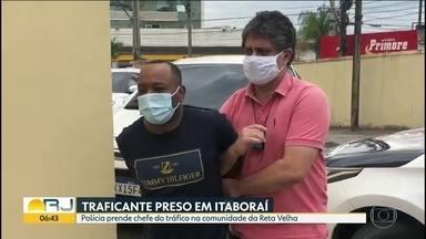 Policiais civis prendem chefe do tráfico da comunidade da Reta Velha - Egeílson dos Reis Conceição foi preso em São Gonçalo