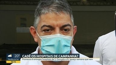 Data de inauguração dos hospitais de campanha muda de novo - Secretário Fernando Ferry diz que unidades de São Gonçalo e Nova Iguaçu serão inauguradas na próxima semana.