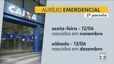 Saque da segunda parcela do auxílio emergencial vai até este sábado (13) - Agências vão funcionar de 8h a 12h. Veja calendário.