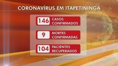 Itapetininga tem novos casos confirmados de coronavírus - Dez novos casos de Covid-19 foram confirmados em Itapetininga (SP) nas últimas 24 horas. Porém, o número de mortes em decorrência do coronavírus não aumentou.